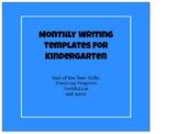 Monthly Writing Templates for Kindergarten (September-June)