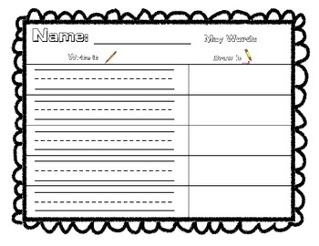 Monthly Writing Worksheets