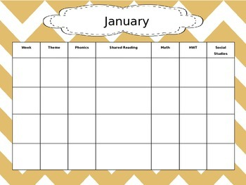 Monthly Year-At-A-Glance Curriculum Overview Template (EDITABLE)
