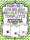 Monthly and Holiday Newsletter Templates