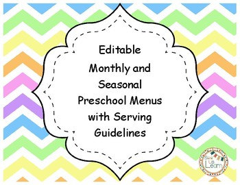 Monthly and Seasonal Preschool Menus