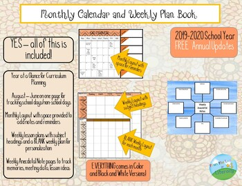 Monthly and Weekly Calendars