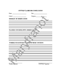 Monthly and weekly OT, PT Speech consult form