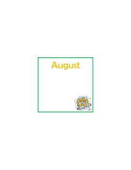 Monthly birthday calendars