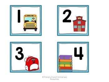 Monthly calendar squares