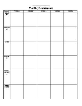 Monthly editable calendar
