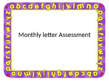 Monthly letter assessment