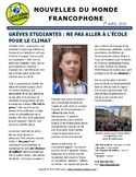 Monthly news summaries for French students: April 1st, 2019