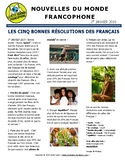 Monthly news summaries for French students: January 1st, 2019
