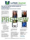 Monthly news summaries for French students: May 1st, 2020