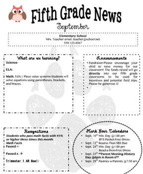 Monthly or Weekly Newsletter Editable Template