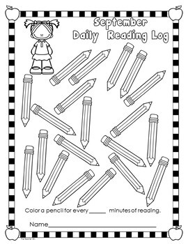 Back to School-Reading  Log- 12 Months