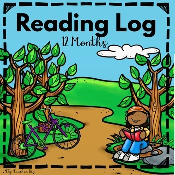 Back to School-Reading  Monthly Log 12 Months