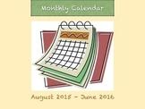 Monthly school calendar