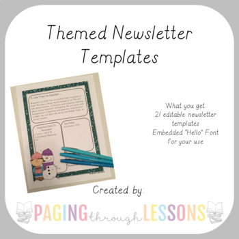 Editable Newsletters ~ Themed Edition