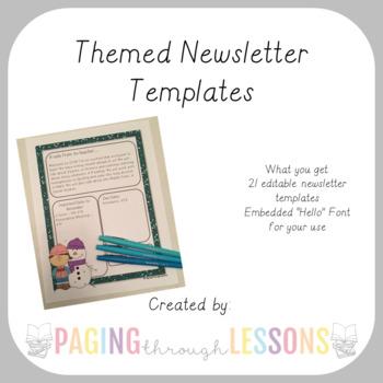 MonthlyThemed Parent Letter Templates