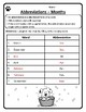 Months Abbreviations Worksheet Abbreviations Months of the Year Abbreviations #4