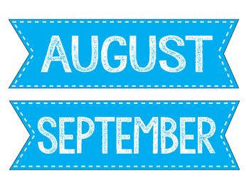Months- Blue