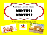 Months Bundle. German Powerpoints, Lesson Plans and Resour