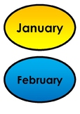 Months Chart / Birthday Chart