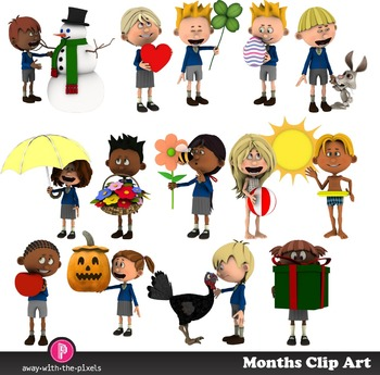 Months Clip Art - Clip Art Representing Each Month Of the Year