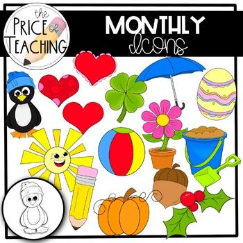 Months Clipart Set