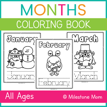 Months Coloring Book
