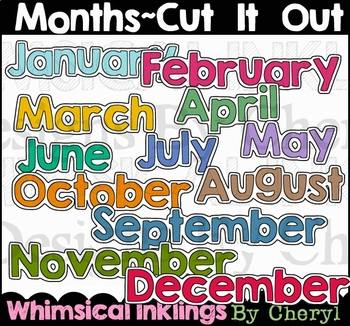 Months~Cut It Out Clipart
