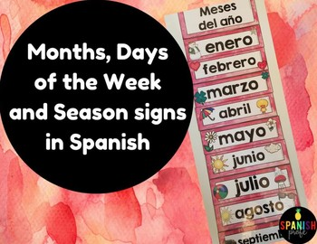 Months, Days, Season Signs (Decor) in Spanish