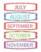 Months & Days Timetable Cards