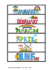 Months, Days, and Holidays activities/ file folder games for special education