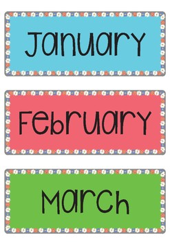 Months, Days of the Week, Numbers and st,nd,rd,th