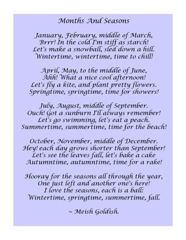 Months, Days of the Week & Weather Songs