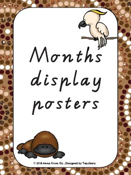 Months Display Poster