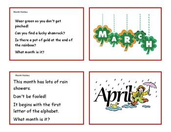 Months, Holidays, Seasons Riddles