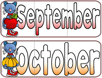 Months Of The Year Cat Centers Activities Seasons Cats Math Literacy Questions