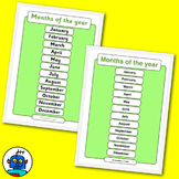 Months Of The Year Classroom Posters. In the Jolly Phonics
