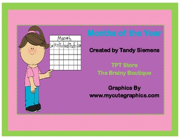Months Of The Year Math Centers
