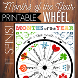 Months Of The Year Wheel