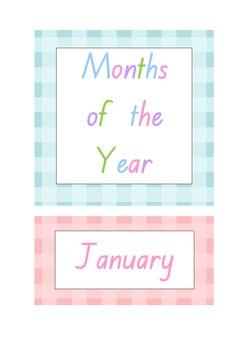 Months Pastel Classroom Display