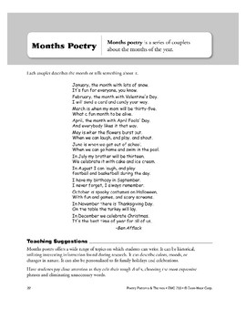 Months Poetry
