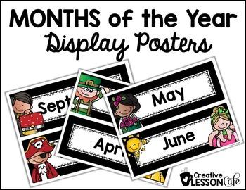 Months Calendar Poster Headers