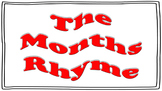 Months' Rhyme Teaching Aids for Lower Elementary