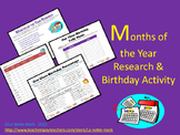 Months Scavenger Hunt and Birthday Activity