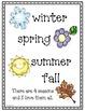 Months & Seasons Emergent Reader Booklet