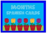 Months Spanish Cards