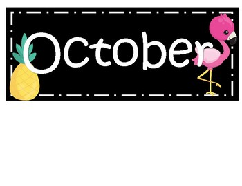 Months Templates Tropical Classroom Decor