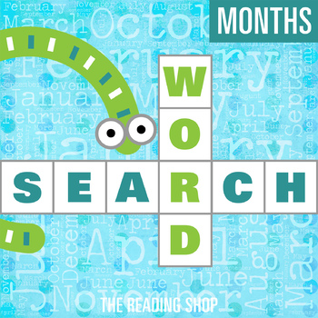 Months Word Search - Primary Grades - Wordsearch Puzzle