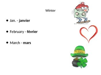 French Months and Date PowerPoint