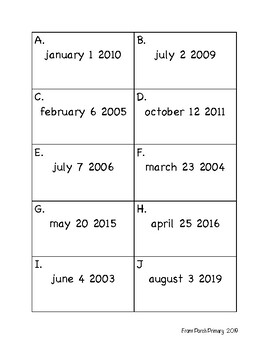 Months and Dates Practice